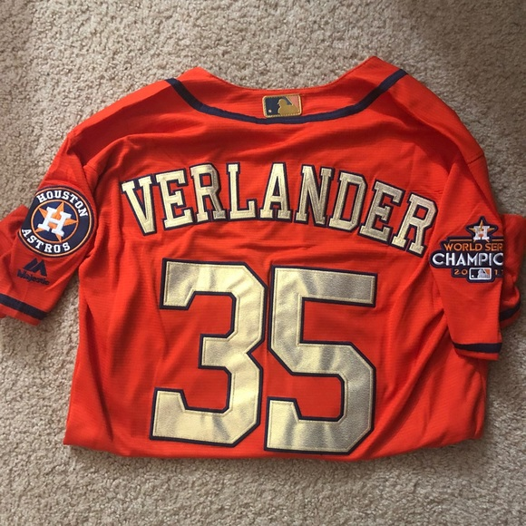 hot sale online 92620 3ed56 Justin Verlander jersey, World Series edition